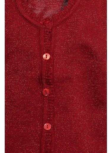 Zeyland Fırfırlı Simli Örgü Hırka (1-6yaş) Fırfırlı Simli Örgü Hırka (1-6yaş) Kırmızı